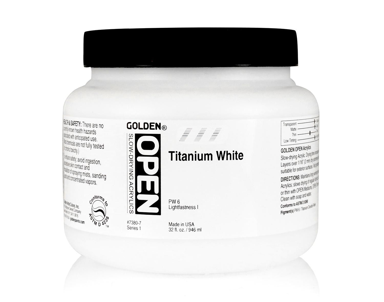 Open 946ml Titanium White